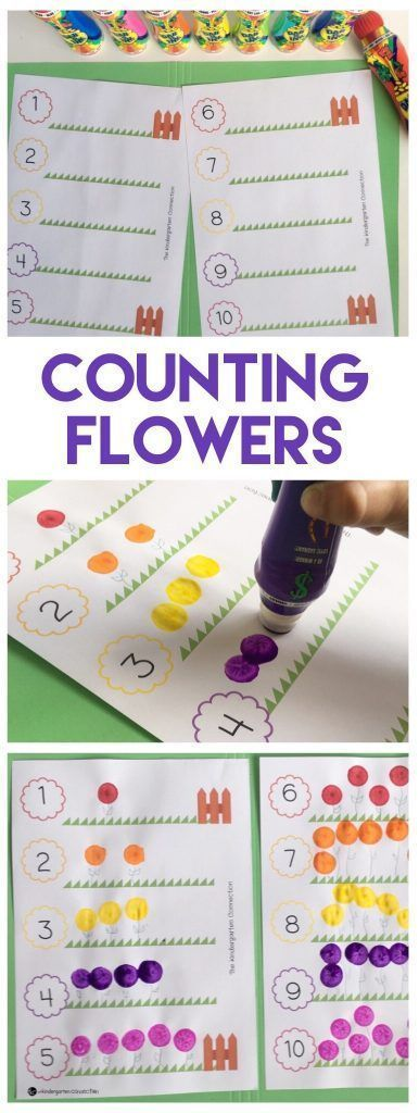FREE Printable Flower Counting Activity for Pre-K …