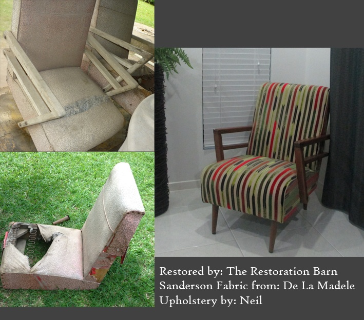 You can read more about the restoration of these two 1950's chairs by following this link  http://wp.me/p3aoW8-1h