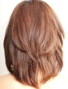 Каскадный боб на средние волосы фото