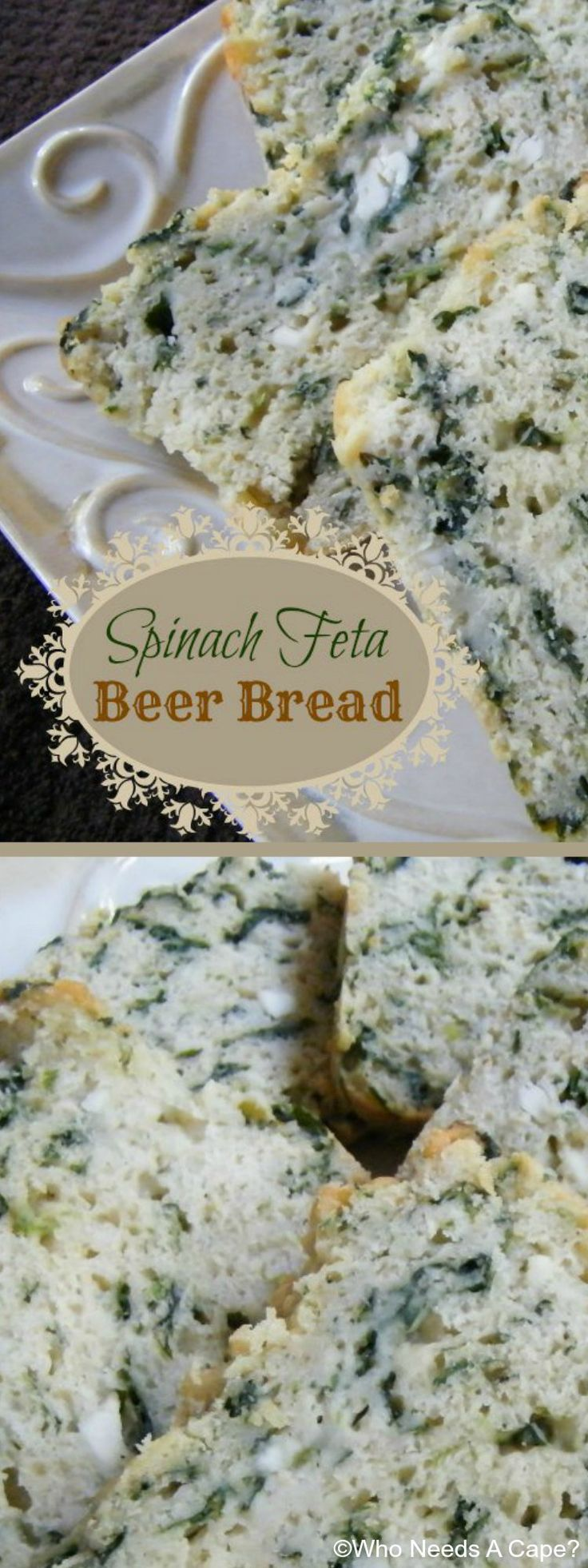 Need a side for soup or stew? Make this tasty Spinach Feta Beer Bread, a twist on classic beer bread. You'll love this, and it is so easy to prepare.