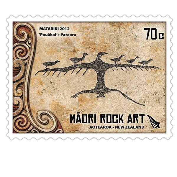 Matariki 2012 - Maori Rock Art   New Zealand Post Stamps