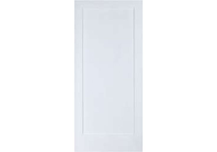 "ELSH720 - 1 Panel Shaker Square Top Primed Door (1-3/8"")"