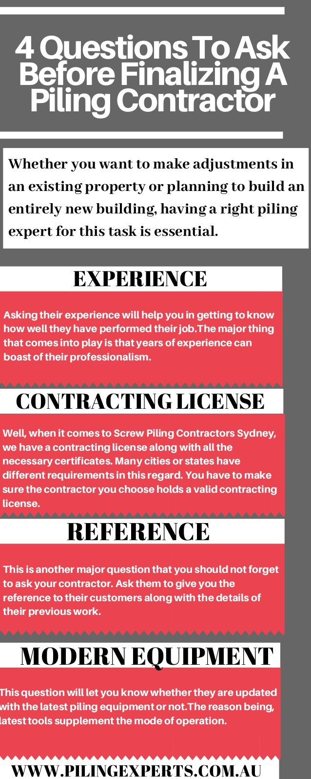 Choosing piling contractors, you need to ask few questions to ensure
