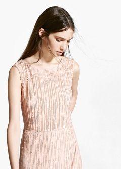 ONLINE EXCLUSIVE - Langes Kleid mit Pailletten