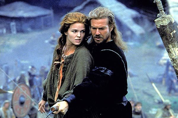 Dragonheart  (Sean Connery was the voice of Draco, the dragon in the movie)  This movie is corny and not that well made, but I still love it and hope someday they'll remake it as it does have great potential.