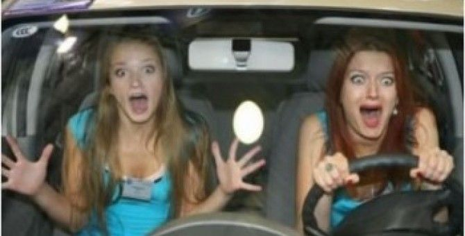 Women at the wheel constant danger