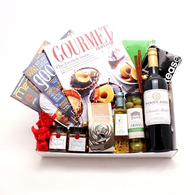 Foodie Gift Hamperm complete with Gourmet magazines