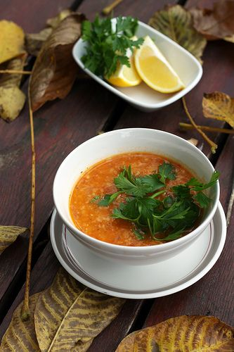 Turkish Red Lentil Soup by Olga Irez of Delicious Istanbul