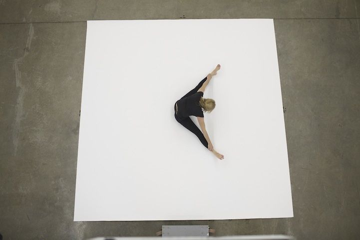 She Stretches And Twists Her Body On A White Canvas. Slowly, I Realized What She Was Doing...