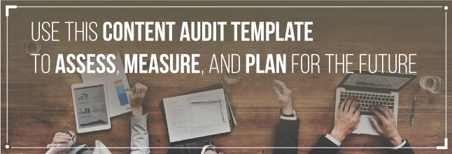content marketing audit template
