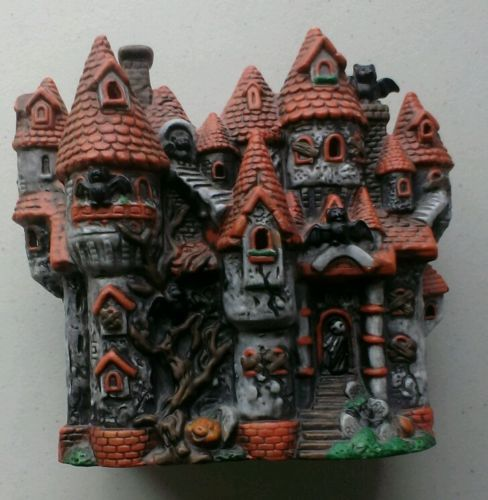 7 ceramic haunted house electric lighting great halloween halloween decorationselectric - Ceramic Halloween Decorations