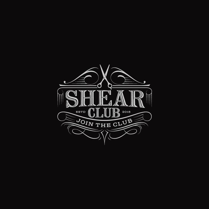 Design #13 by designhatti | Shear Club: Put a modern spin on a vintage barbershop logo for a scissor membership service.