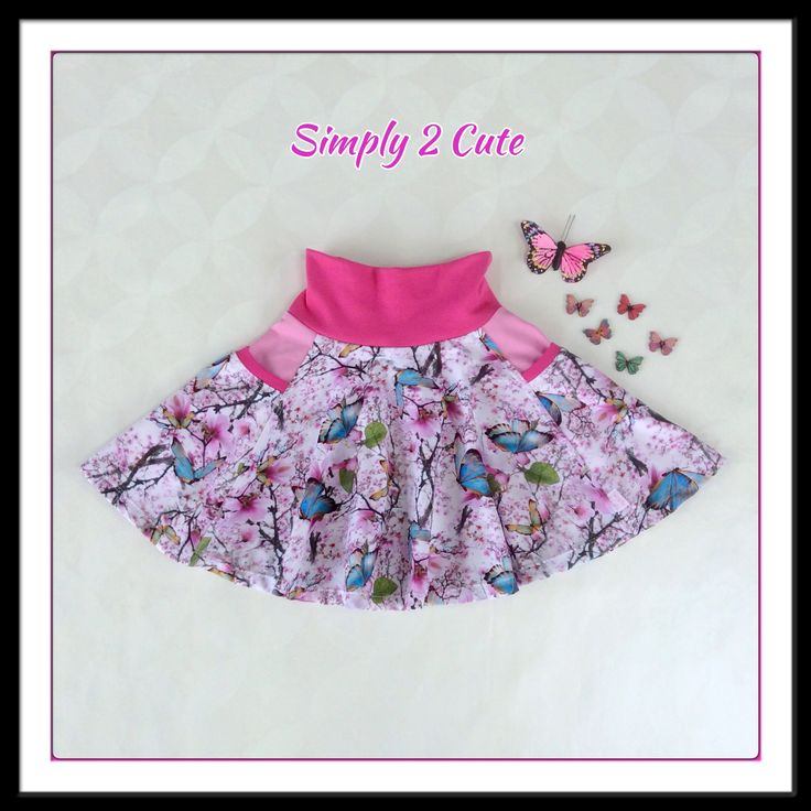 Our super popular twirling skirt with side pockets! Love this fabric!