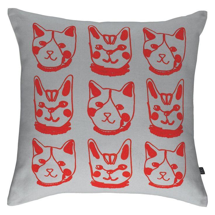 SUSHI Grey patterned cushion 45 x 45cm
