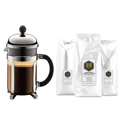 Bodum Chambord Coffee Maker and Tribe Coffee Starter Pack