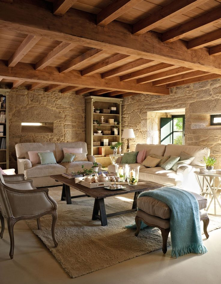 M s de 25 ideas incre bles sobre salones r sticos en for Casa y campo muebles