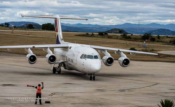 Bigger SA Airlink jet landing at KMI from O.R Tambo