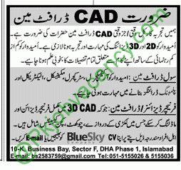 CAD Draftman Jobs Blue Sky Company 2017