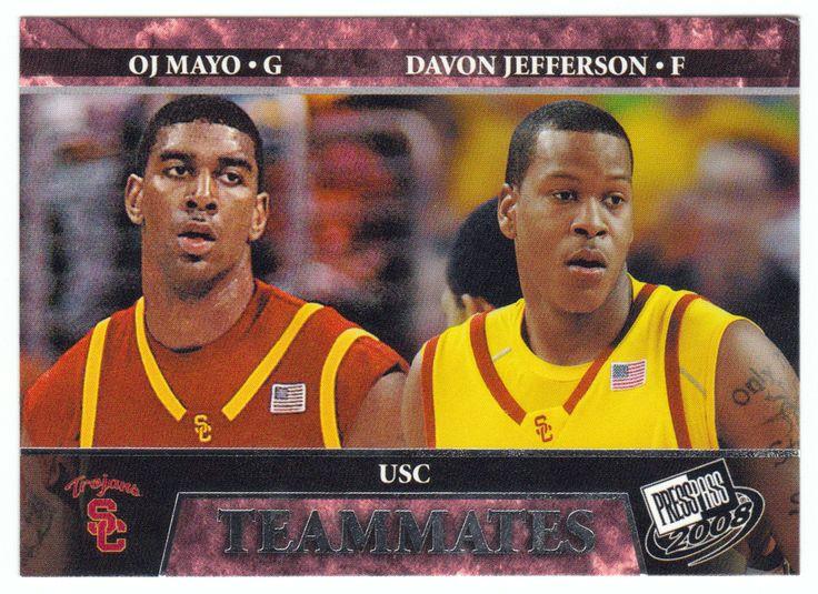O.J. Mayo / Davon Jefferson # 59 - 2008 Press Pass Basketball