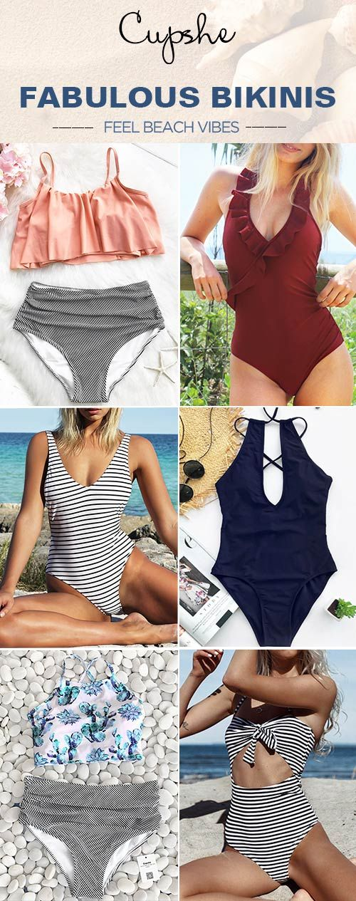 Go to the beach in a Cupshe swimsuit! Celebrate the season with these fabulous swimsuits, adorable & affordable, selected for your body. You are bound to look fabulous. Shop now.
