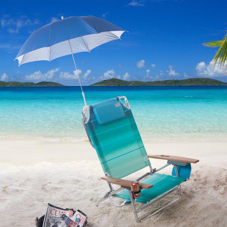 Rio Big Kahuna Beach Chair with FREE Clamp-On Umbrella   from hayneedle.com