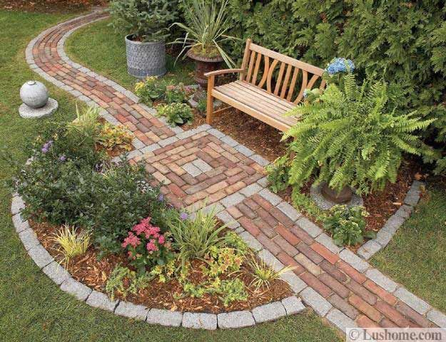 Stream rocks and natural stones in various shapes, colors and sizes are a good choice for beautiful garden paths and walkway designs if you want to create beautiful and timelessly elegant yard landsca