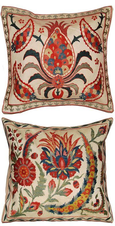 Uzbek pillows, hand embroidered