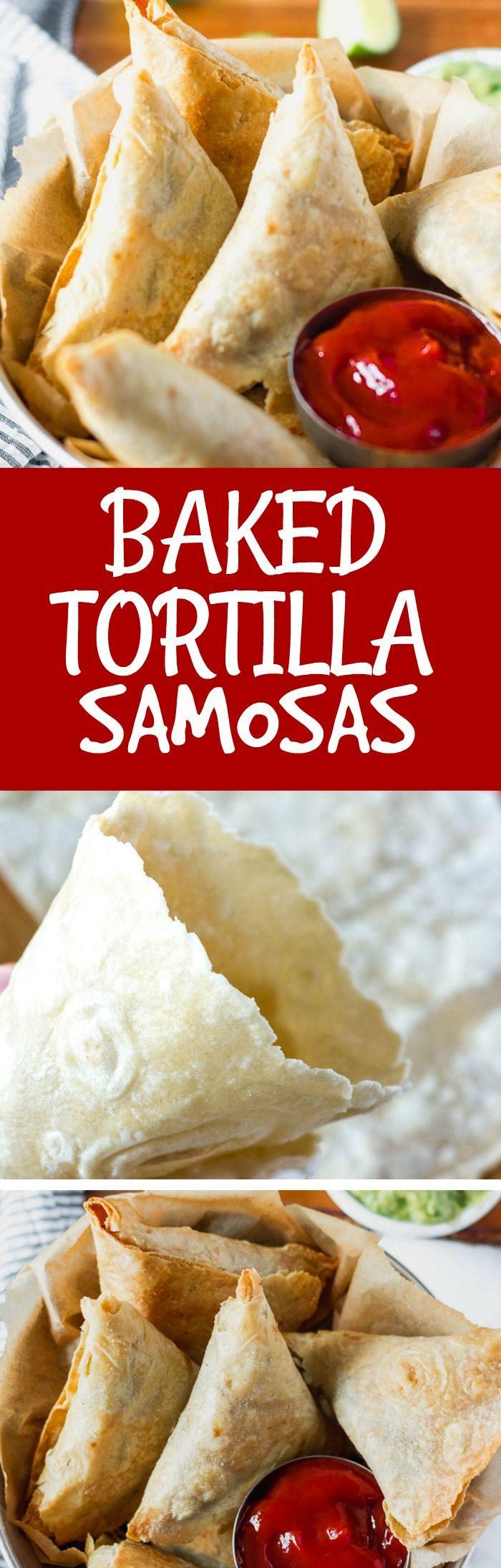 Baked Tortilla Samosas Vegan, Gluten-Free #samosas #healthiersteps #streetfood #veganrecipes #veganlife