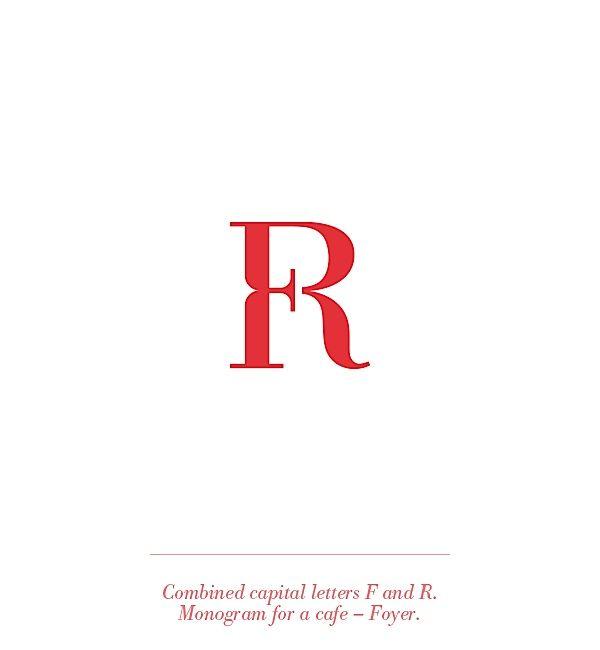 fr logo / monogram / typographic / red / letter