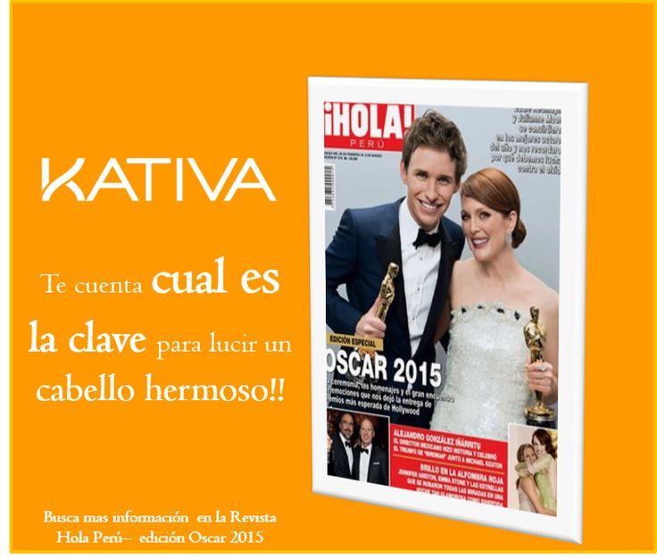 Kativa salió en la revista Hola Perú con información muy importante para tu cabello... alguien ya vio la nota?