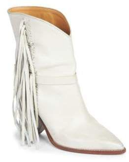 6a7a9f292bf Isabel Marant Loffen Leather Mid-Calf Boots | Fringe Benefits ...
