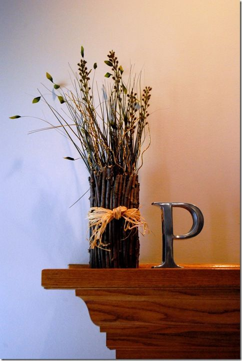 39 best decorating with twigs and branches images on pinterest for Twig decorations home