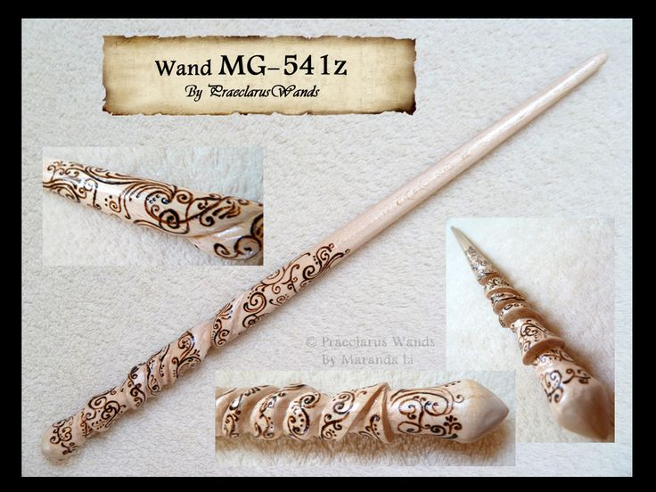 Wand no 109 commissioned by mara g and hand carved from for Wand designs