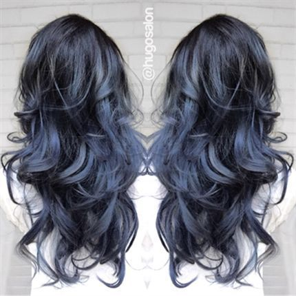 Bored with your color?  Thinking maybe something metallic?  While not for everyone hair dyes that mix purple, grey, and dark blues into a trendy balayage or ombre outcome like this can be just what some are looking for when seeking OMG hair that is anything but subtle. While TerrificTresses.com may have other coloring ideas you're looking for as well.