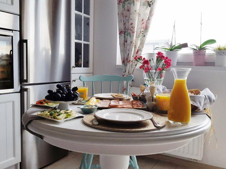 Kitchen,white kitchen, food,  table, chair, juice, sweet, mint, decor, kuchnia, mint, white home