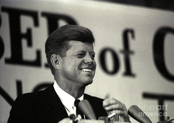 John F. Kennedy photographed in Tampa Florida on November 18, 1963. This was four days before his assassination in Dallas.