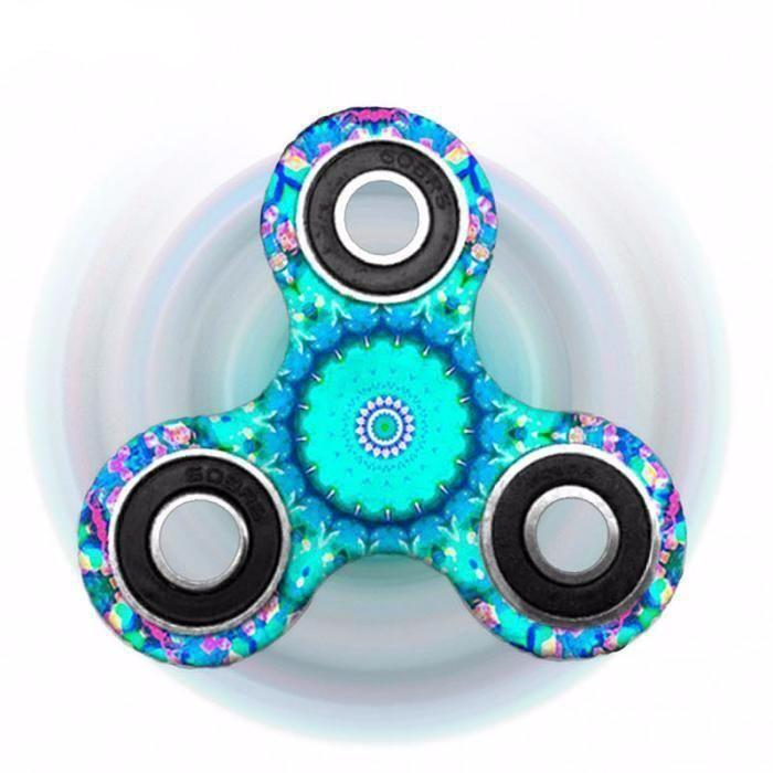 Blue Mandala Fidget Spinner