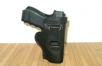Glock 19 23 32 36 Pro Carry LT CCW IWB Leather Gun Holster New Black by The Holster Store. $19.95. THIS IS ONE OF THE FINEST INSIDE THE PANTS, CLIP ON, SUPER LIGHT WEIGHT HOLSTERS AVAILABLE TODAY. THIS Black FINISHED LEATHER HOLSTER HAS A SMOOTH LEATHER LINING ,ALLOWING FOR A FAST AND EASY DRAW. THIS HOLSTER IS COMFORTABLE WHEN SITTING OR STANDING. This is 100% AMERICAN cowhide - American made product - the very BEST! This is not HORSE HIDE - This is not some imported inexpensi...