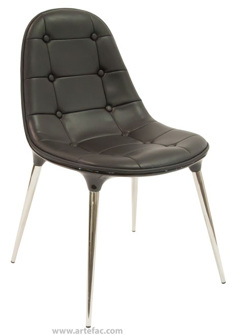 Modern And Comfortable Dining Chair Comes In Black White Faux Leather Dimensions Width X Depth Height Seat