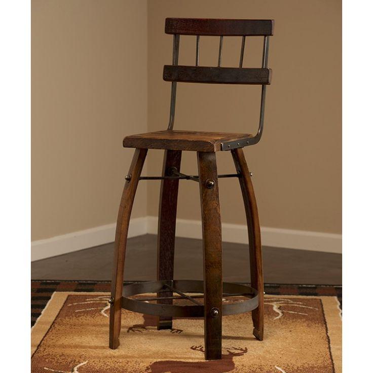 Wine Barrel Stave Back Bar Stool & Best 25+ Wine barrel bar stools ideas on Pinterest | Wine barrel ... islam-shia.org
