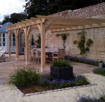 Wooden Pergola Covered Lean To Ideas Page 1 Homes Gardens And Diy