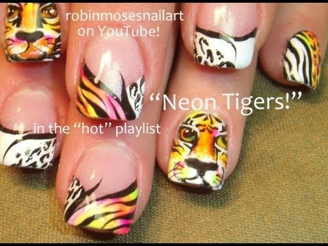 Best 25 tiger nails ideas on pinterest tiger nail art tiger neon tiger nail art by robin moses nail art wizard robin is one of a kind prinsesfo Images