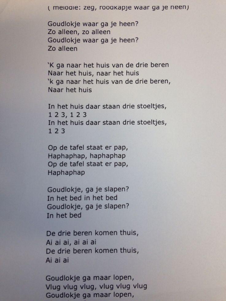 Liedje Goudlokje Op Melodie Van Roodkapje Waar Ga Je