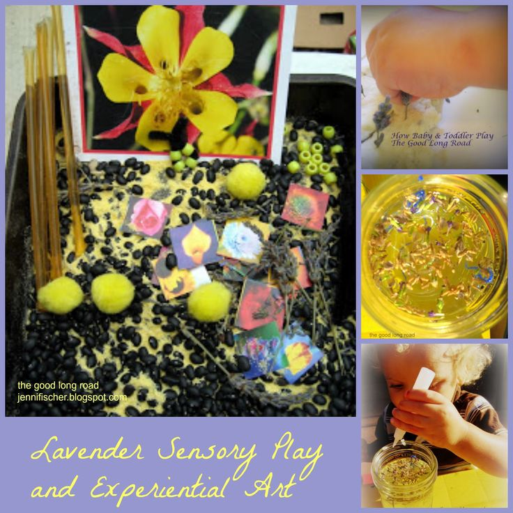 The Good Long Road: Sensory Play & Experiential Art From Nature AKA Lavender is for Boys Too #sensoryplay #natureplay #lavender #montessori
