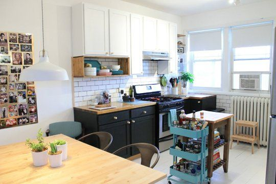 Before & After: Melissa's Country-Meets-City Kitchen Makeover ..... LOVE this kitchen makeover!