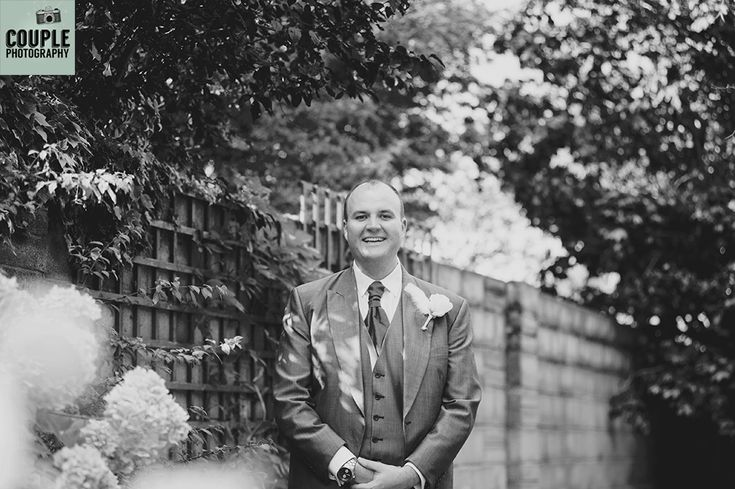 The Groom in the garden. Weddings at Moyvalley Hotel and Golf Resort Photographed by Couple Photography.