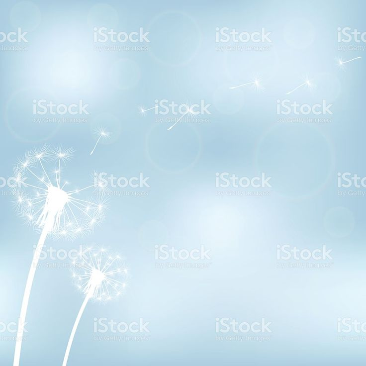 silhouette with flying dandelion buds royalty-free stock vector art
