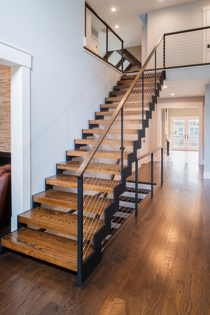 Best Zigzag Stairs And Cable Railing — Teaneck Nj 400 x 300