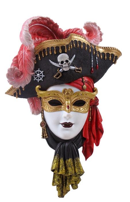 Pirate Venetian Carnival Mask Plaque Venice Masquerade
