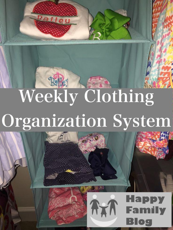 Organzing: Weekly Clothing Organizer